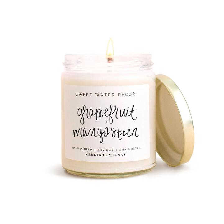Grapefruit & Mangosteen Soy Candle