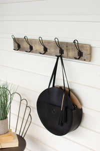 Recycled Wooden Coat Rack