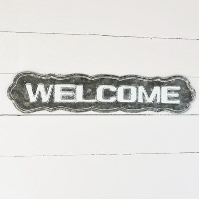Tin Welcome Sign
