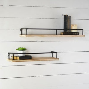 Tin Wood Shelf