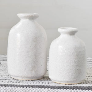Sandy White Vases