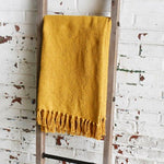 Mustard Cotton Throw