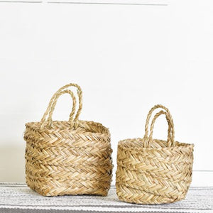 Seagrass Hanging Planters