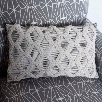 Neutral Diamond Pillow