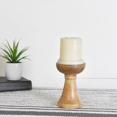 Wood + Marble Stand