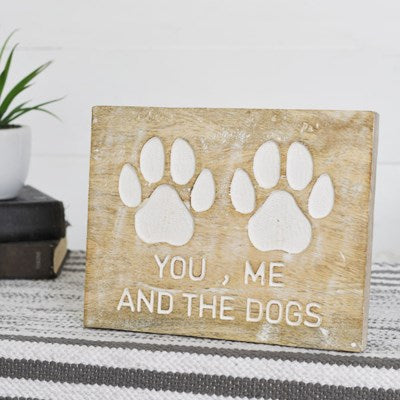 Carved Dog Paw Wall Plaque