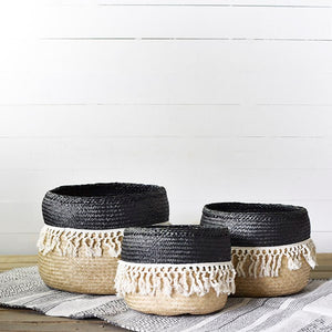 Black/Natural Fringe Tubs