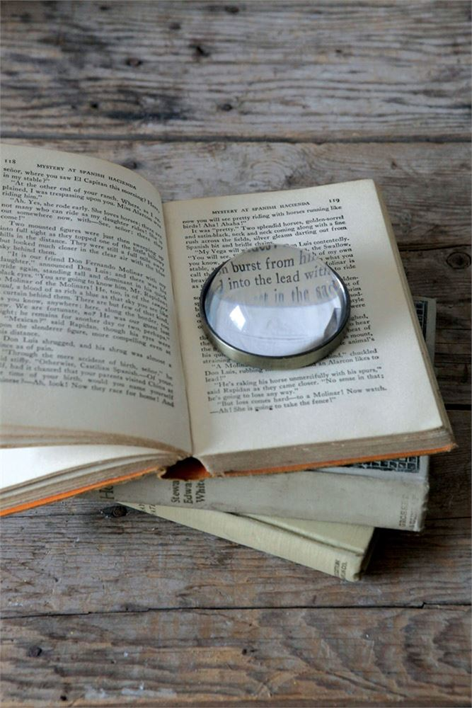 Glass Paperweight Magnifying Glass