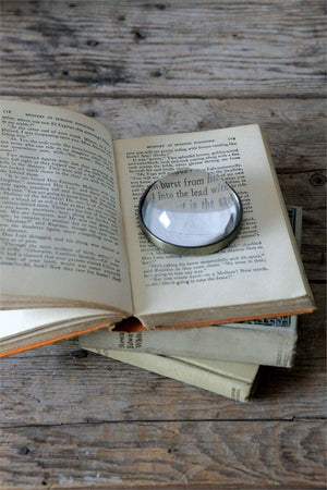 Glass Paperweight/Magnifying Glass