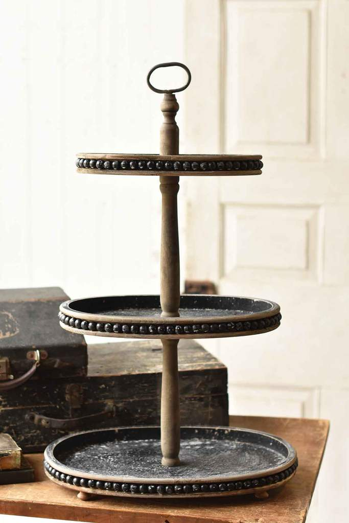 Beaded Tiered Tray
