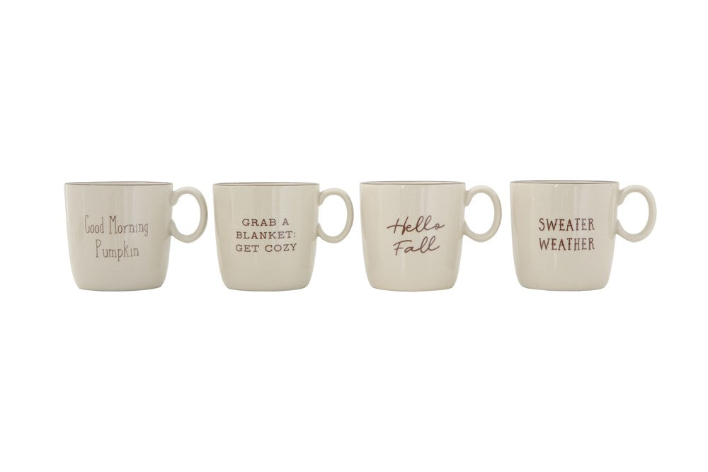 Fall Stoneware Mugs