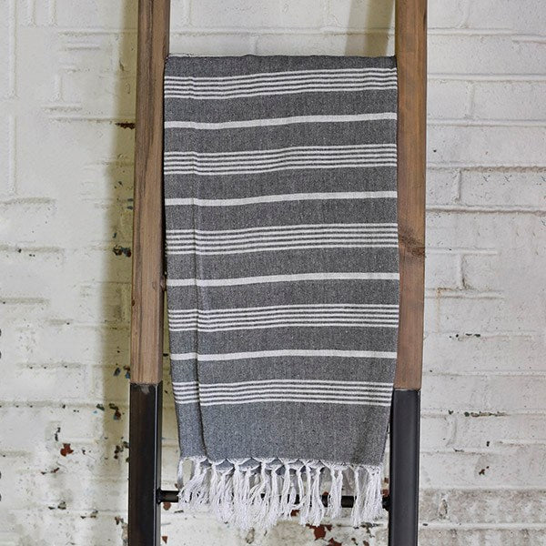 Charcoal Stripe Throw