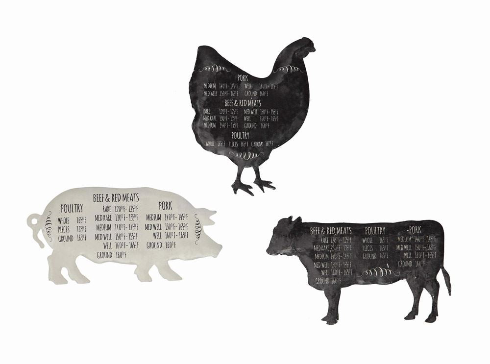 Tin Farm Animal Magnets