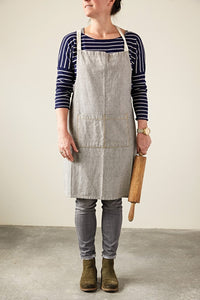 Cotton Chambray Apron w/ Pockets