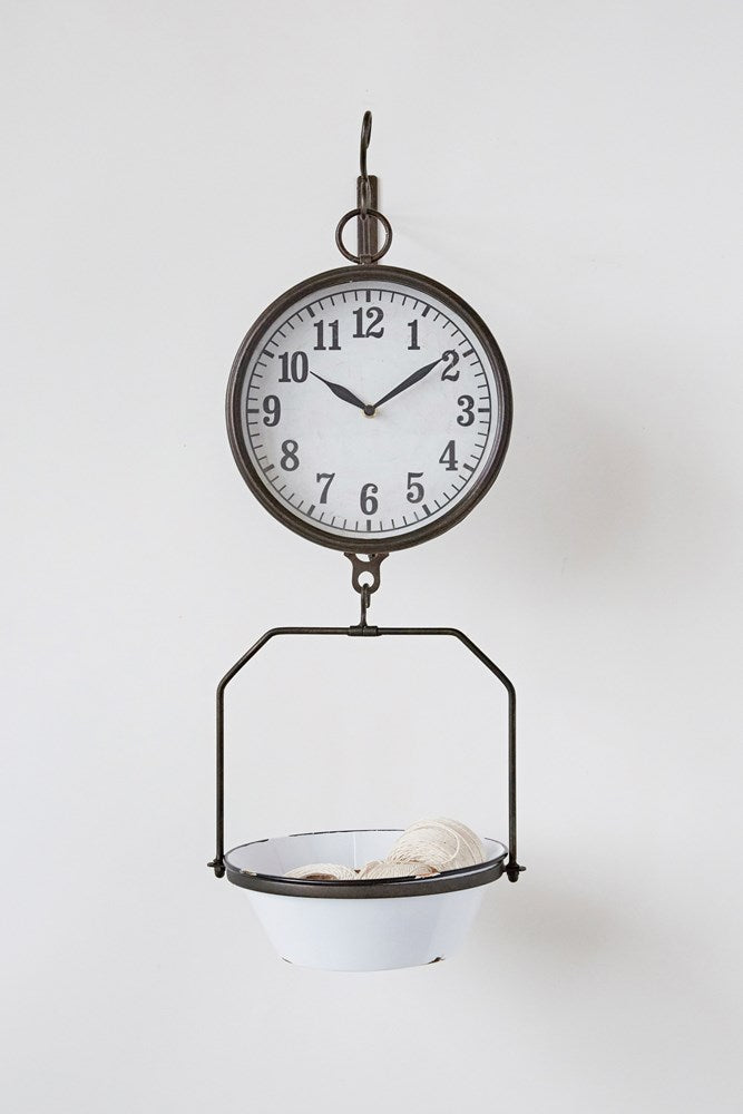 Vintage Metal Scale Clock