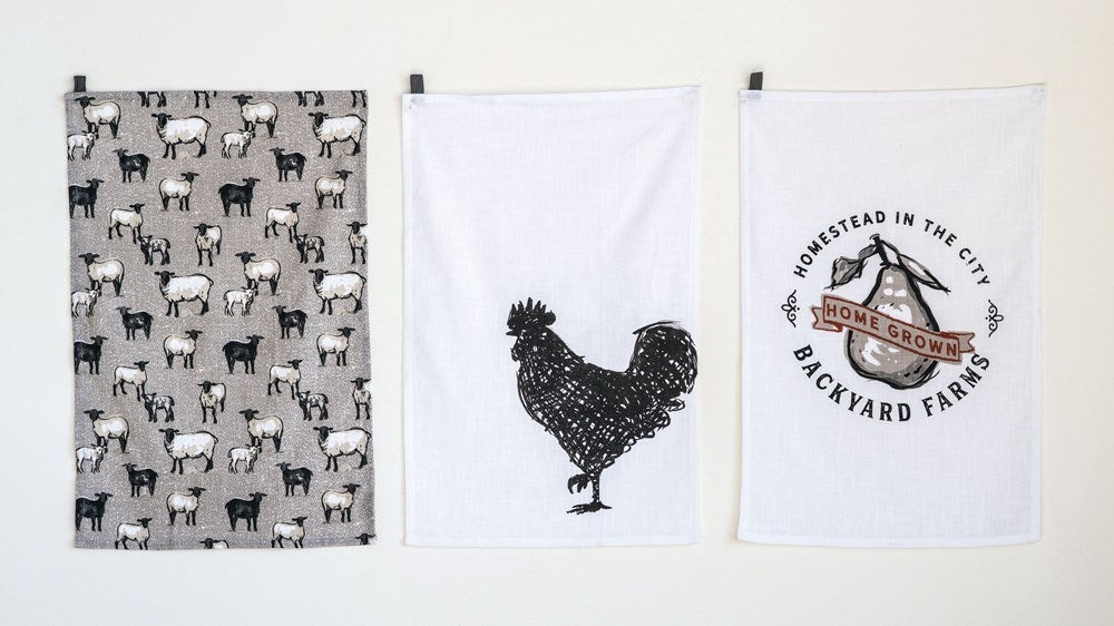 Backyard Farms Tea Towel