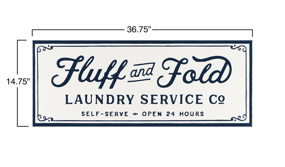 Fluff And Fold Laundry Sign