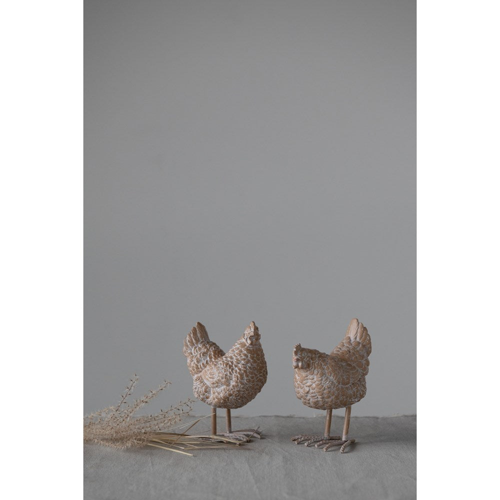 Resin Hen with Metal Feet