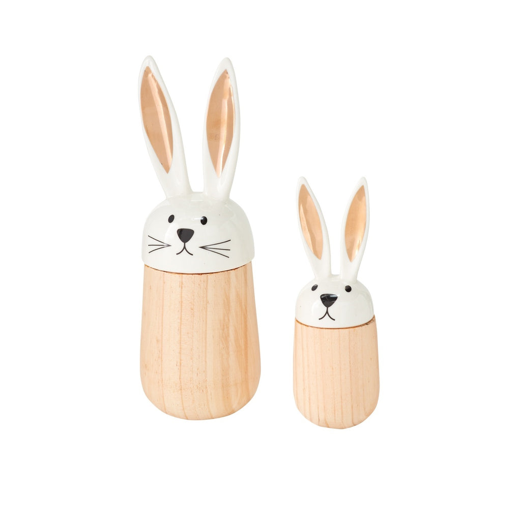 Wood Bunny Rabbit Figurine