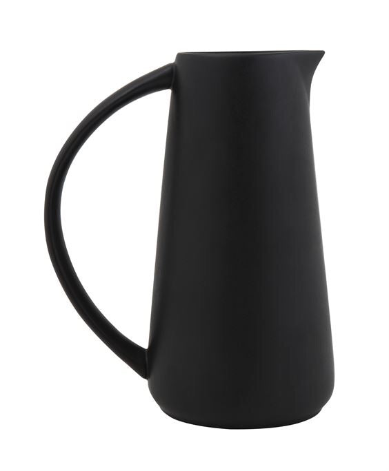 Stoneware Matte Black Pitcher