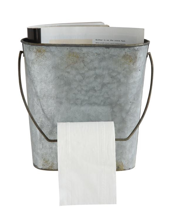 Galvanized Toilet Paper Holder
