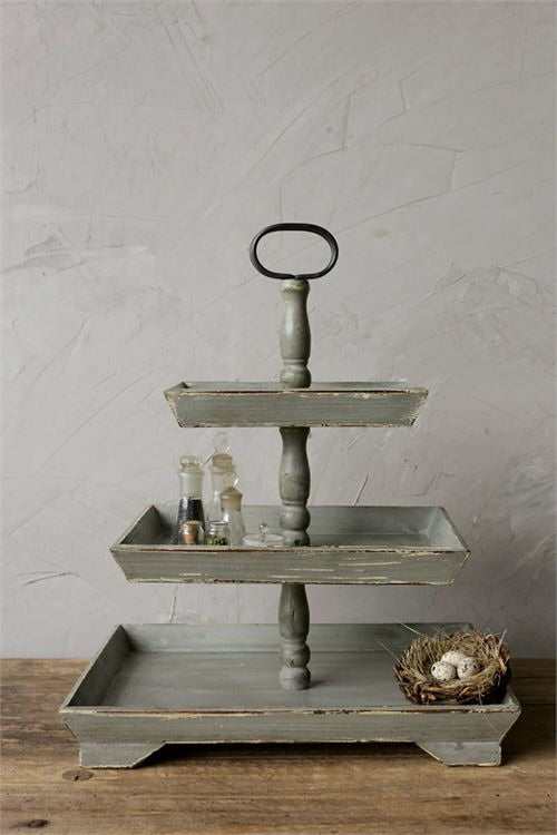 Gray 3-Tier Tray