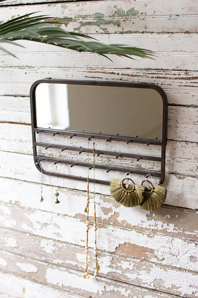 Jewelry Holder Mirror