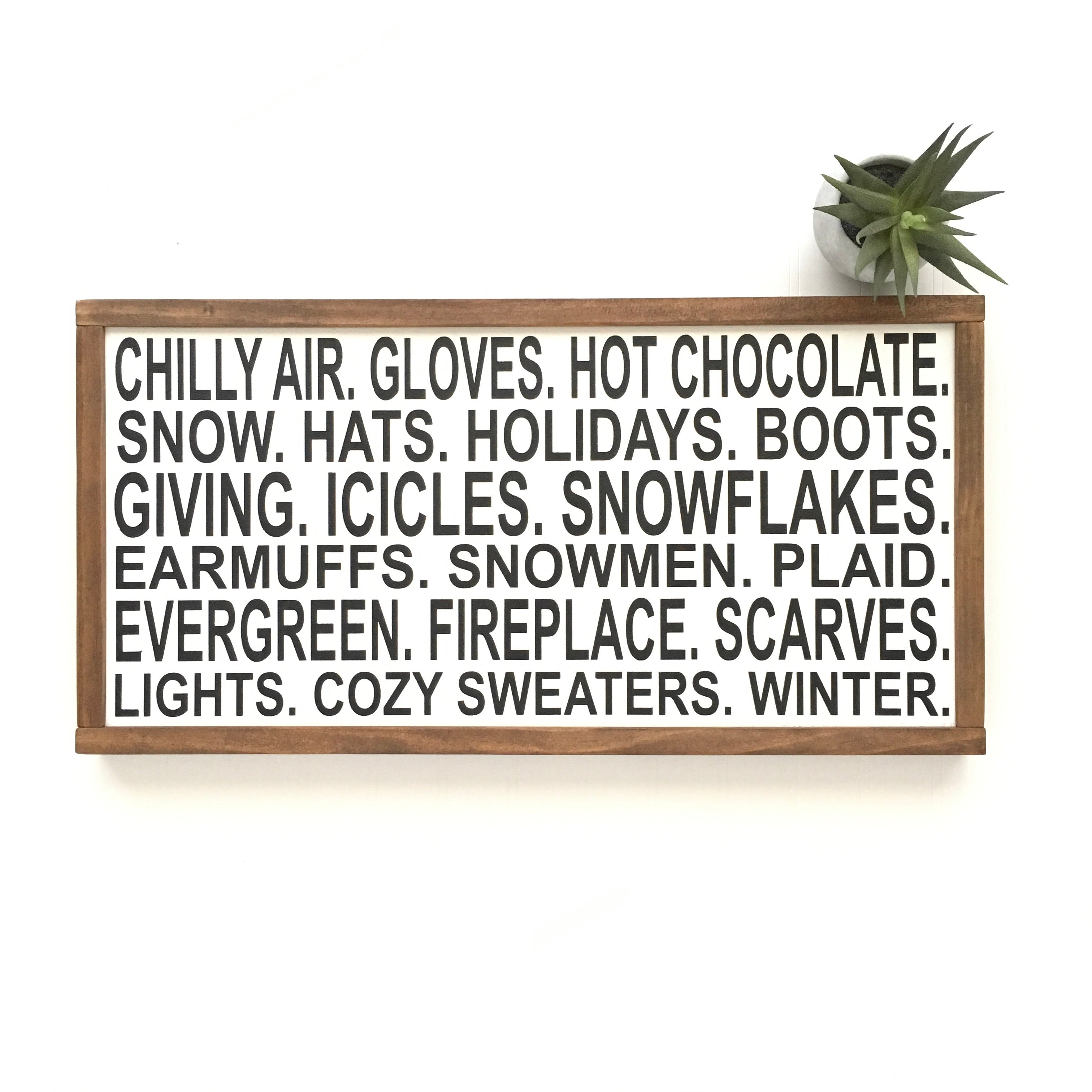 All Things Winter Sign
