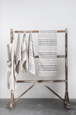 Cotton Cream and Gray Strip Runner