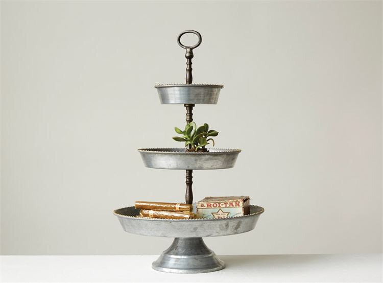 Galvanized 3-Tier Tray