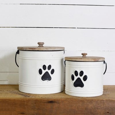 Paw Print Containers