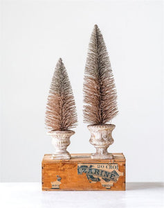 Copper Finish Bottle Brush Tree