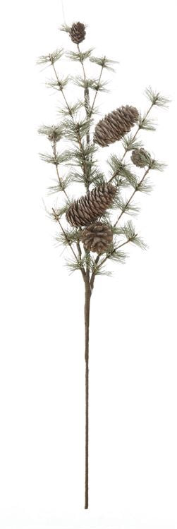 Lightly Flocked Pine Branch