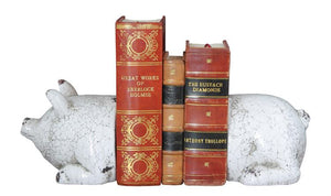 White Pig Bookends