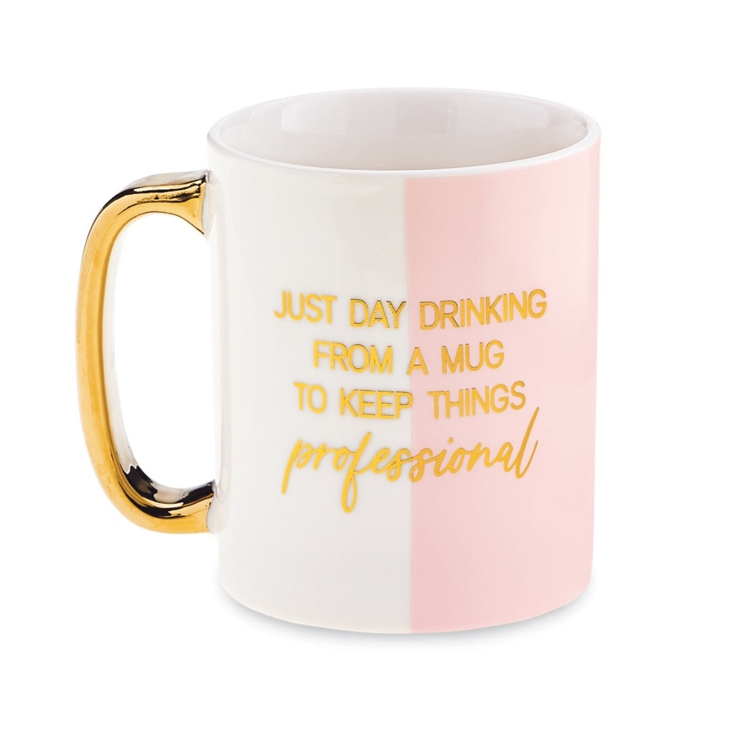 Gold Accent Funny Mugs