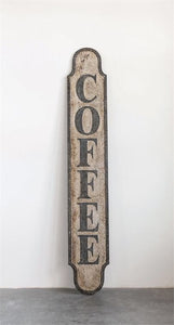 Distressed Metal Coffee Sign