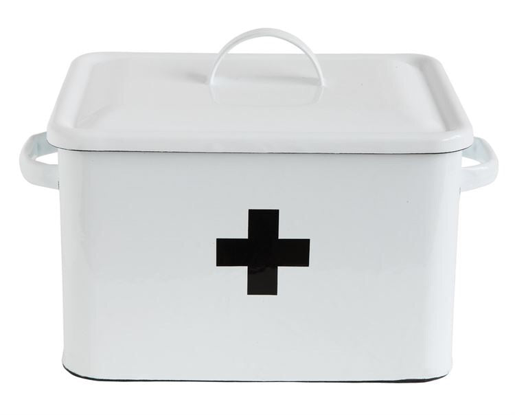 First Aid Swiss Cross Enamel Box