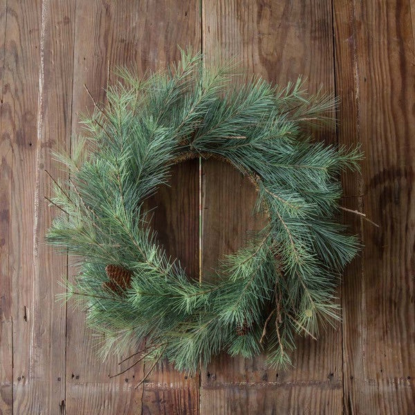Pine Wreath from The Feathered Farmhouse