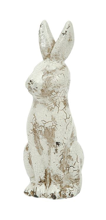Distressed Ceramic Bunny Rabbit