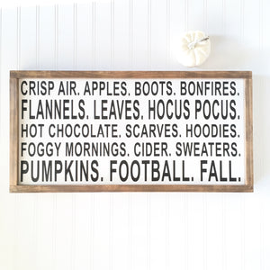 All Things Fall Sign by The Feathered Farmhouse