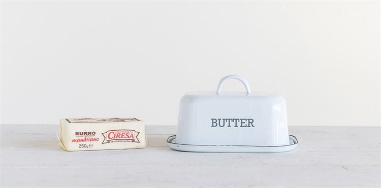 Enameled Butter Dish