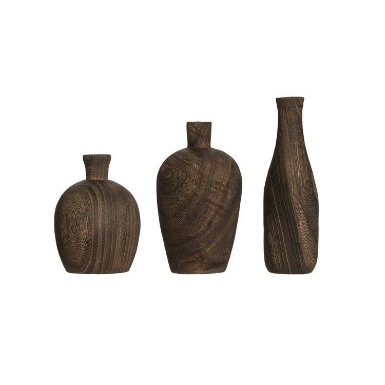 Charred Wood Vases The Feathered Farmhouse