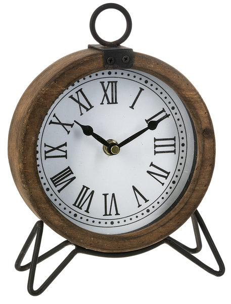 Rustic Wood Framed Clock