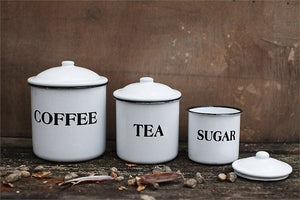 Coffee, Tea and Sugar Canisters