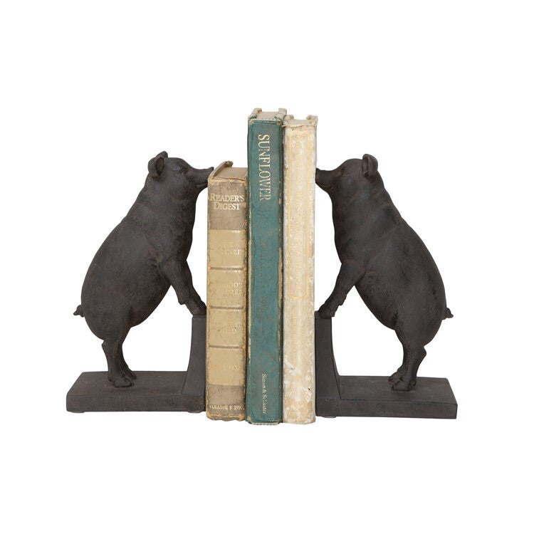 Black Pig Bookends
