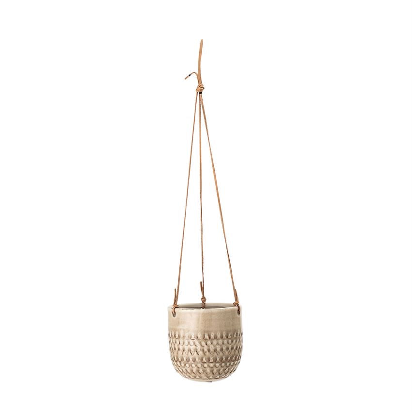 Hanging Planter with Leather String