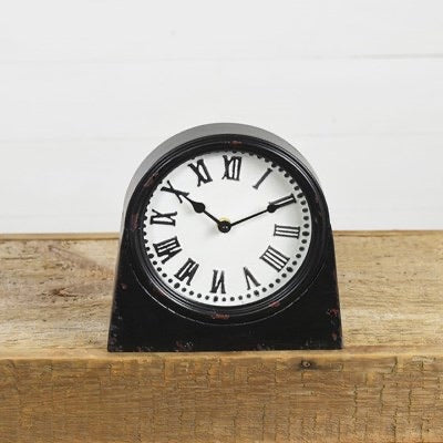 Pressed Tin Table Clock