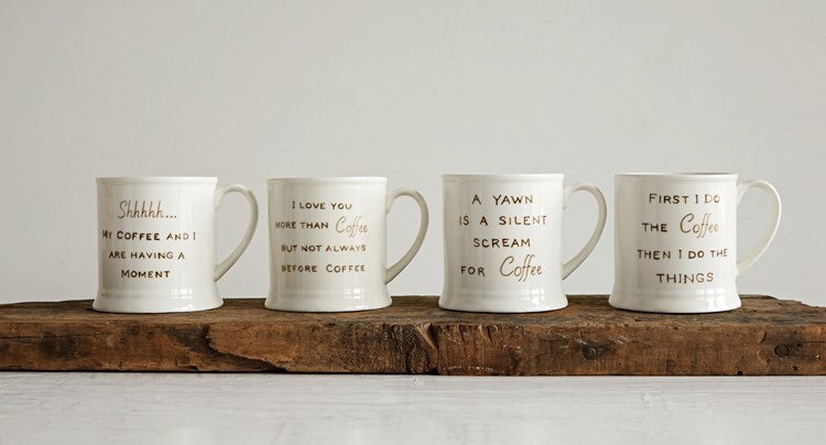 Coffee Mugs with Coffee Sayings