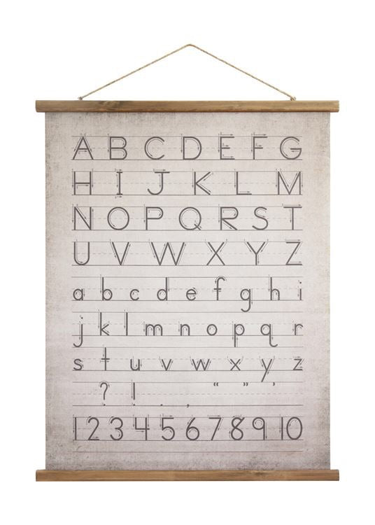 Canvas Alphabet Scroll from The Feathered Farmhouse