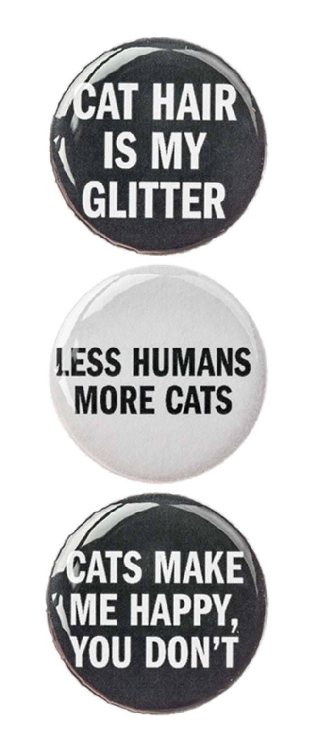 Cat Hair is My Glitter Magnet Set